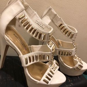 Body Central Shoes - White beaded The Stiletto Heels